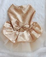 Fashion Pet Tutu Clothes Dress With Rhinestone, Puppy Wedding Lace Skirts Free Shipping