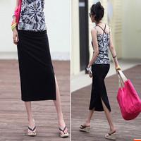 Spring and summer basic skirt bust skirt hip slim high waist cloth slim full cloth modal placketing step skirt female skirts
