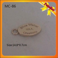 (MC-86)Hot High quality gold color jewelry pendant charm bracelet tags necklace pendants metal pendant,custom logo charms