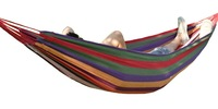 outdoor protable cotton hammock sleeping bed swing for camping hiking traveling with carry bag and ropes