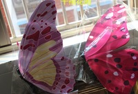 Size 12-60- cm simulation big butterfly hotel mall wedding decoration hanging air simulation red grass ball