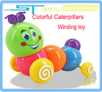 2014 Newest  Baby Kids girl boy Cute Twist Forward Movement Clockwork Spring Toy Caterpillar wind up toys 20pcs/lot