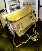 The new female hand bag bag of punk rivet envelope alternative single shoulder bag package. Free shipping