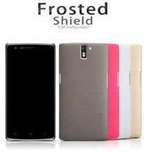 For OnePlus A0001 Nillkin Frosted Shield Series Case For OnePlus One Phone Back Cover Protective Case +Screen Film Free Shipping(China (Mainland))