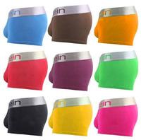 High quality 12color Sexy Men Boxer Shorts Men's Boxers Mens Underwear Best Price sexy underwear boxer Brand 100pcs/lot