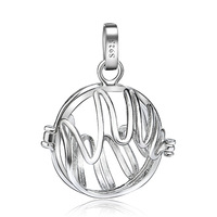 CYLZ0097 New Arrival  Harmony Ball Cage Warm Hands 925 Sterling Silver Diameter 20mm Charm Mexican Bola Free shipping Wholesale