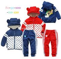 Baby boy/girl Sports suit set brand Children outfits Mickey Minnie sportswear suit bebe kids boy set sweater/jacket+Pants 2 PCS