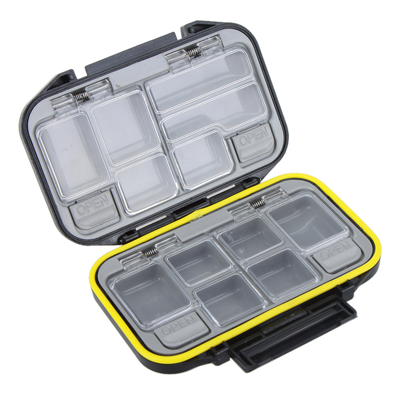 NEWSKY Fly Fishing Lure Spoon Hook Bait Tackle Box Waterproof Storage Case Black(China (Mainland))