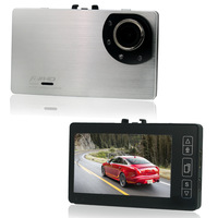 "Silver GT700 Touch Screen Slim Full HD 1080P 30FPS 3"" LCD Car DVR Sports Camera Recorder G-sensor HDR 150 Degrees Wide Angle"