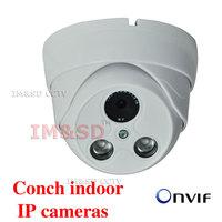 Factory Direct 1.0MP Network CCTV Camera 720P HD Indoor Plastic Dome ONVIF Dome IP Camera