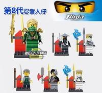 DHL Fedex Free Shipping Wholesale Decool 360pcs Building Blocks Ninja Zane Cyrus Borg Sensei Wu Lloyd action figures toy