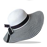 Fashion Women's Striped Straw Hat, Woman Sun Hat Free Drop Shipping