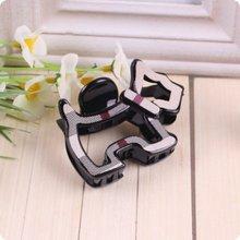 Plaid Doggy Shape Hair Claw Checked Puppy Korean Style Hair Clip Accessories For Women