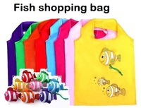 fish cartoon shopping bag creative shopping bag foldable pouch bags promotion bag gift wholesale