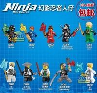 DHL Fedex Free Shipping Wholesale Decool 500pcs Building Blocks Ninja Zane Cyrus Borg Sensei Wu Lloyd action figures toy