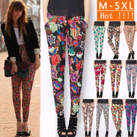 New 2014 Women's thin legging casual sports high waist harem pants loose Stretchy Skinny Leg length trousers WF-624