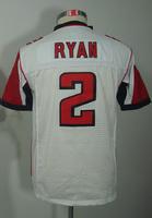 #2 Matt Ryan Kids Youth Game White Football Jersey