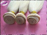 IS Beauty hair bleach Blonde color 613 Brazilian Virgin Hair Extensions silk straight 3pcs 4pcs/lot Hair wefts Free shipping