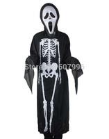 Halloween costume Halloween costume skeleton ghost clothes + skull devil mask D-1537