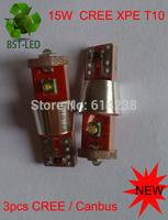 20X 2014 NEW 15W  Car Auto LED CANBUS T10 194 W5W 15W  Cree XPE  LED Light Bulb