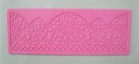 Free Shipping  Flower shape instant  fondant silicone lace mold cake mold  baking tools cake decorating  tools-Y037