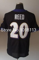 Cheap Elite authentic American Football Jerseys #20 Ed Reed Men's Elite Black Football Jerseys