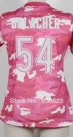 Free shipping - 54 Brian Urlacher Women's Fashion Jersey-New Pink Camo Football Jersey , Embroidery and Sewing , mix order
