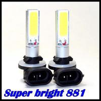 (2pcs/Lot) LED car light H27 881 cob 10w smd  LED CAR 881 cob high power fog lamp DRL  Free shipping