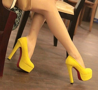 Sale 2014 Spring 14cm thick high heels sexy women's wedding shoes dress pumps  big size Eur35-39 free shipping