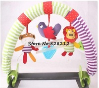 New Colorful Baby Stroller Clip Bed Hanging Crib Bed Around Baby Toys Cute Plush Toys Safe Toys Cognitive 3pcs/lot Free Shipping