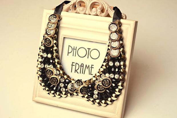 hot sale vintage fashion design black beads ribbon chian false collar choker necklace for women 2014 Luxury artificial(China (Mainland))