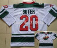 #20 Ryan Suter White Green Minnesota Wild Team ice hockey jerseys 2014 cheap,free shipping