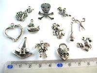 2014 hot Free Shipping 60Pcs Mixed Tibetan Silver Tone Animal Charms Pendants Jewelry Making Craft DIY