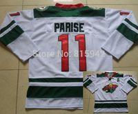 #11 Zach Parise White Green Minnesota Wild Team ice hockey jerseys 2014 cheap,free shipping