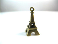 Hot Sale Free Shipping! Vintage Eiffel Tower Pendant,Antique Bronze Tower Charm,Antique Connector Findings