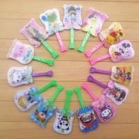 Wholesale free shipping PP material cute cartoon design children/kids popular Mini soft plastic folding gift fans/hand fan(S032)