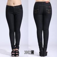 big girl fat jeans plus size skinny demin pencil pants size 30-44 free shipping