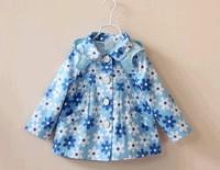Free shipping 2014 autumn girls windbreaker girls jacket children outerwear children's clothing wholesale 5pcs/lot