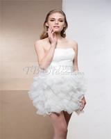 2014 New style White Ruffles Homecoming Dresses Prom dresses sweetheart Short Mini dresses custom