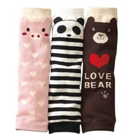 6 Pairs/Lot car,bonnie, pig, panda style, Kid's Cute Socks Knee Soft  Sock for 1-6 years 3 Colors XY21