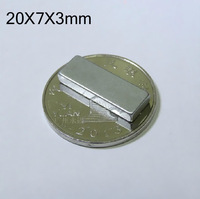 Hot sale WholeSale Craft Model Powerful Strong Rare Earth NdFeB Block Magnet N35 Magnets 20*7*3 mm