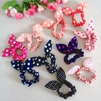Fashion Hair band Polka dot hair rope Accessories for girls Rabbit Ears headband scrunchy  1406HB004