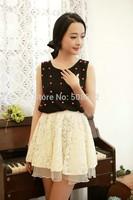 DS-S011  Women's elegant crochet lace skirt, oganza skirt,  fashion A-line skirts, casual summer skirt, above knee length