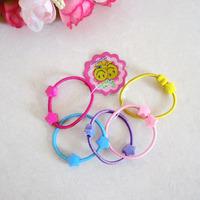 4cm Cartoon Baby Girl Kids Tiny Hair Accessary Hair Bands Elastic Ties Ponytail Holder 1406HB007