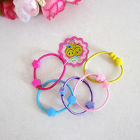 4cm Cartoon Baby Girl Kids Tiny Hair Accessary Hair Bands Elastic Ties Ponytail Holder 1406HB007