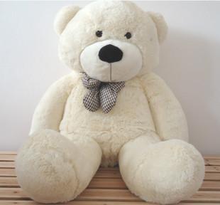 1pc New Cheap Sale Big Size 80cm White Plush Teddy Bear Doll & Stuffed Animals Soft Toy For Children Girlfriend Birthday Gift(China (Mainland))
