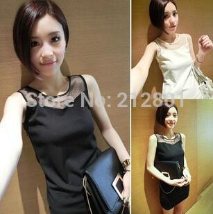 2014 Fashion Women tube dress chiffon off the shoulder straight sleeveless voile peachwork mini free shipment summer slim(China (Mainland))