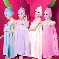 Free Shipping!Super Absorbent Shower Towels Bath towel bath skirt bathrobes khan steam clothes towel tube top design bathrobe