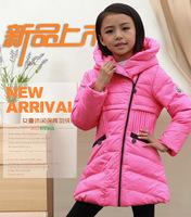 wholesale 2014 fashion brand  children Outerwear & Coats,girl Medium style down jacket Parkas Outerwear