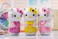 2014 NEW Arrival High Definition Camera Hello Kitty T699 Charger Baby candybar phone Quad Band Cartoon Mobile Phone children